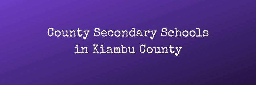 County Secondary Schools in Kiambu County