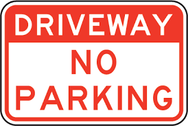 Driveway No Parking Sign