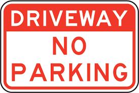 Driveway No Parking Sign
