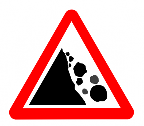 Falling rocks ahead