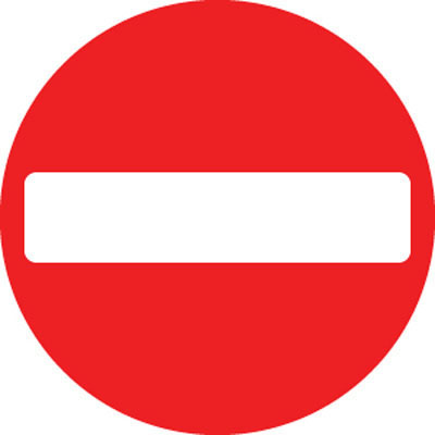 No Entry road traffic signs