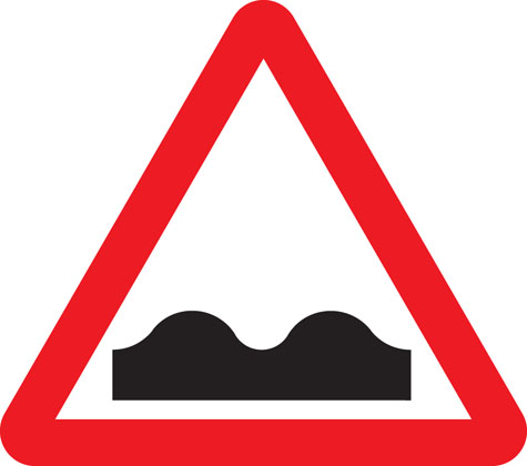 Uneven road surface