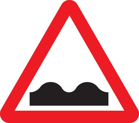 Uneven road surface