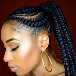 Large Stitch cornrows Braids