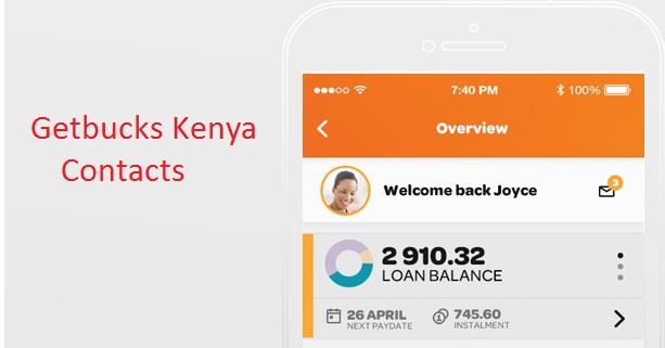Getbucks Kenya Contacts