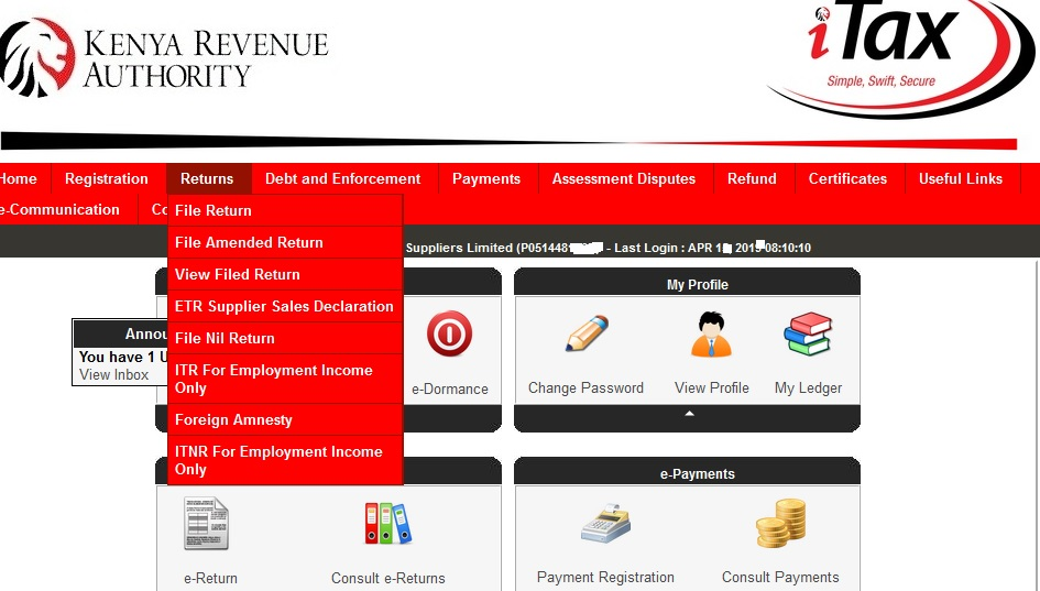 How to file KRA Nil Income tax return