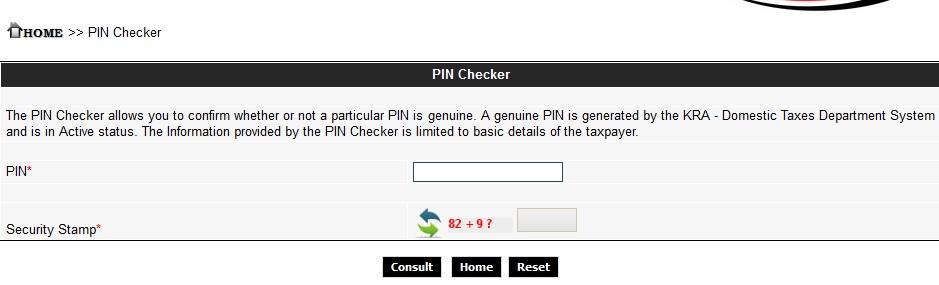 KRA Pin-Checker